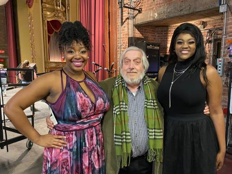 Dr. Budds looking particularly happy with alums Symonne Sparks and Alicia Olatuja, February 2020 - Chancellor's Arts Showcase Concert (right before the world shut down)